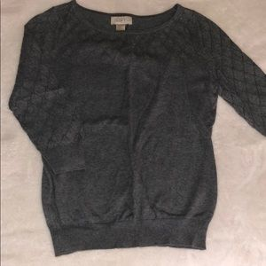 Gray Fitted LOFT Sweater